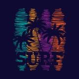 Affiche de typographie de ressac Conception de mode de T-shirt Images libres de droits