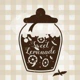 Affiche de typographie de vecteur avec l'icône de limonade Design de carte créatif de citation Couverture pour le menu, le livre, Photo stock