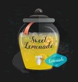 Affiche de typographie de vecteur Design de carte créatif de citation Copie de limonade pour le menu, livre, enseigne Image libre de droits