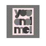 Affiche de typographie de Saint Valentin avec le texte mignon vous et moi pour la conception de bannière, carte de voeux, invitat Image libre de droits