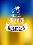Affiche de vacances d'été Images libres de droits