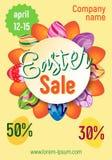Affiche de vecteur à vendre des vacances de Pâques Images stock