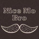 Affiche de vecteur avec la citation drôle Nice Mo Bro illustration de vecteur