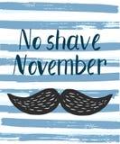Affiche de vecteur avec la citation de mois de conscience de cancer de la prostate illustration stock