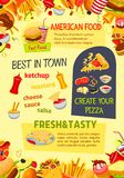 Affiche de vecteur d'aliments de préparation rapide des repas de prêt-à-manger Illustration Libre de Droits