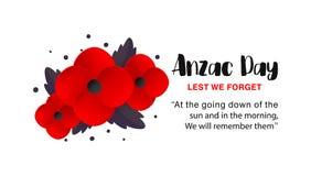 Affiche de vecteur d'Anzac Day Images libres de droits