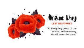 Affiche de vecteur d'Anzac Day De peur que nous oubliions illustration stock