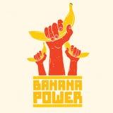 Affiche de vecteur d'isolement par puissance de banane Photo stock