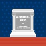 Affiche de vecteur de Jour du Souvenir Image libre de droits