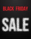 Affiche de vecteur de vente de Black Friday avec l'effet d'image tramée de Blackwork Images stock