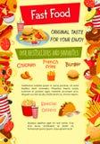 Affiche de vecteur pour le calibre de restaurant d'aliments de préparation rapide Illustration de Vecteur