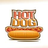 Affiche de vecteur pour le hot-dog Illustration Stock