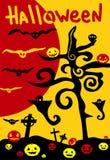 Affiche de Veille de la toussaint illustration stock