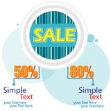 Affiche de vente Image stock