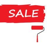 Affiche de vente, bannière Grande vente, dégagement Illustration de vecteur Image libre de droits