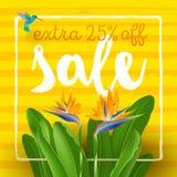 Affiche de vente d'été illustration de vecteur