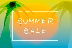 Affiche de vente d'été avec le thème tropical photo stock