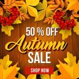 Affiche de vente d'automne de prix discount d'automne Image stock