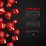 Affiche de vente de Black Friday Image stock