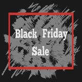 Affiche de vente de Black Friday avec un lettrage Photo stock
