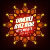 Affiche de vente de Diwali, bannière ou conception d'insecte Image libre de droits