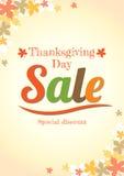 Affiche de vente de jour de thanksgiving dans le vecteur Images libres de droits