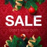 Affiche de vente de Noël Photos stock