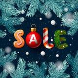 Affiche de vente de Noël Images stock