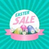 Affiche de vente de Pâques Vecteur Photo stock