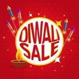 Affiche de vente de Diwali avec des biscuits et le diya de festival Photos libres de droits