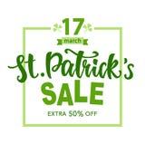 Affiche de vente de jour du ` s de St Patrick illustration libre de droits