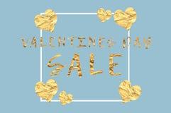 Affiche de vente de jour de valentines pour faire de la publicité des ventes en ligne photographie stock libre de droits