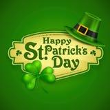 Affiche de vert de St Patrick Day Photos stock