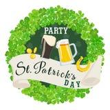 Affiche de vert de partie de jour du ` s de St Patrick Illustration de vecteur Image stock
