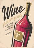 Affiche de vin illustration de vecteur