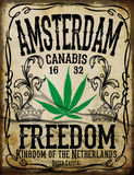 Affiche de vintage d'Amsterdam illustration stock