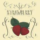 Affiche de vintage de fraise Photographie stock libre de droits