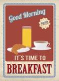 Affiche de vintage de petit déjeuner illustration libre de droits