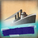 Affiche de vintage de style de Deco Photographie stock libre de droits