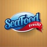 Affiche de vintage pour le restaurant de fruits de mer. illustration stock
