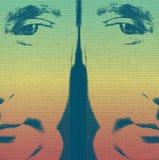 Affiche de Vladimir Putin Russian President de style d'art de bruit Images libres de droits