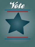 Affiche de vote illustration stock