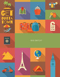 Affiche de voyage Image libre de droits