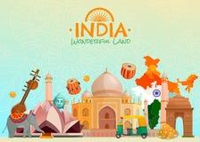 Affiche de voyage d'Inde illustration de vecteur
