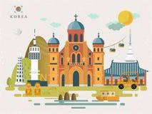 Affiche de voyage de la Corée du Sud illustration de vecteur