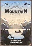Affiche de voyage de montagne illustration de vecteur