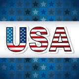 Affiche des Etats-Unis Images libres de droits