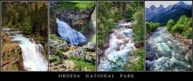 Affiche des paysages d'Ordesa Photographie stock