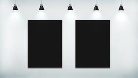 Affiche deux noire Images libres de droits