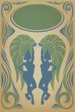 Affiche do vintage com a rainha atrativa do samba Fotografia de Stock Royalty Free